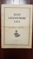 Estonia,Estland,Estonie Estonian Waffen-SS Fight-song Note Book Original 1944 - 5. World Wars