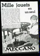 Publicité MECCANO - QUAI DE NAVIRE En Jeux De Construction - Coupure De Presse (illustration) De 1933 - Meccano