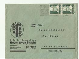 DR CV 1937 ERFURT - Storia Postale