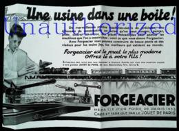 Publicité FORGEACIER - BOITE ATELIER Pour  Jeux De Construction - Coupure De Presse (illustration) De 1933 - Autres Collections