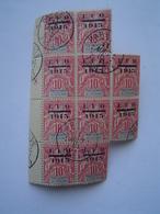 N° 38 : BLOC De 9 TIMBRE POSTE / 10 Centimes EFO 1915 / ETABLISSEMENTS DE L' OCEANIE / Cachet TAHITI ( FRANCE ) - Neufs