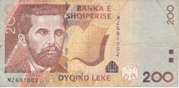 BILLETE DE ALBANIA DE 200 LEKE DEL AÑO 2012  (BANKNOTE) - Albanie