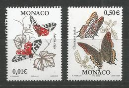 MONACO - MNH - Animals - Insects - Butterflies - 2002 - Papillons