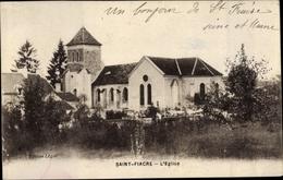 Cp Saint Fiacre Seine-et-Marne, L'Église - Francia