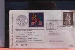 Österreich; Ballonbrief Pestalozzi-Kinderdörfer 1974 Von Christkindl Nach Kematen/Krems - Montgolfières