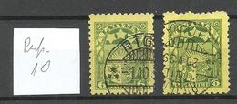 LETTLAND Latvia 1932 Michel 174 O Perf. 10 WM Normal + Inverted - Lettonia