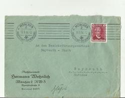 DR CV 1936 MUNCHEN - Storia Postale