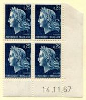 Marianne De Cheffer Y&T N° 1535 (Dallay N° 1568) Du 14/11/1967 Neuf ** - Dated Corners