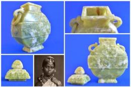 BRÛLE PARFUM En APOPHYLLITE VERTE - Indes - Arte Asiatica