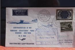 Deutschland; Lufthansa-Eröffnungsflug LH 402 Hamburg-New York; Zuleitung Luxembourg 19.4.56 - Avions