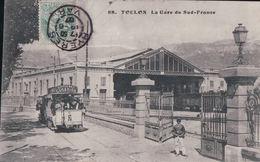 TOULON La Gare Du Sud-France (Tram AvecPub Oxygénée CUSENIER, 1907) - Toulon