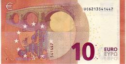 10 Euros 2014 Serie UC , U009I3 Signature Mario Draghi UNC  N° UC 6213541447 - EURO