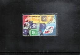 Slovakia 1998 Olympic Games Nagano - Hockey Phonecard - Olympische Spiele
