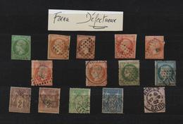 France -1853 à 1900  -Oblitérés -  Lot De  14 Timbres  Anciens  DEFECTUEUX -  (marges, Clair )  Voir Scan - Unclassified