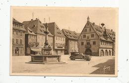 Cp , Automobile ,67 , OBERNAI , Place Du Marché Et Fontaine Sainte Odile , Vierge - Passenger Cars