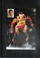 Germany Biathlon Sven Fischer Postcard - Wintersport