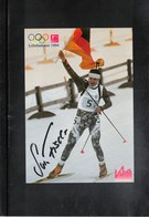 Germany Biathlon Sven Fischer Signed Postcard - Wintersport