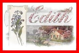 CPA ANNIVERSAIRE.   St.Edith, Paysage Rural, Myosotis...K069 - Birthday
