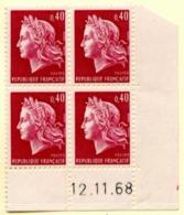 Marianne De Cheffer Y&T N° 1536B (Dallay N° 1571) Du 12/11/1968 Neuf ** - Dated Corners
