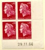 Marianne De Cheffer Y&T N° 1536B (Dallay N° 1571) Du 29/11/1968 Neuf ** - Dated Corners