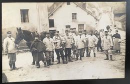 Photographe Marcelin à Belley. Groupe Avec Cheval 1914 - Photos