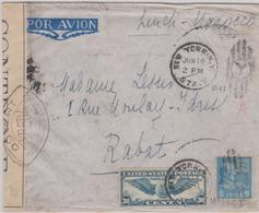 LSC - De NEW-YORK à RABAT - 19 JUIN 1941 - Marcophilie