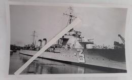 1932-1945 Contre-torpilleur Français Classe Aigle No 3 Vautour ? Sabordage Toulon Ww2 1939 1945 2 Photos - War, Military