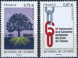 FRANCE - CONSEIL DE L'EUROPE - ANNÉE 2010 - NEUFS** 2 VALEURS N° 146/147 - Service