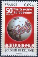 FRANCE - CONSEIL DE L'EUROPE - 50ème CHARTE SOCIALE EUROPÉENNE - ANNÉE 2011 - NEUFS** 1 VALEUR N° 150 - Service