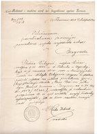 1918. YUGOSLAVIA,JUDAICA,ZEMUN,OVER RABBINAT OF JEWISH ZEMUN MUNICIPALITY,RETURN TO JUDAISM CERTIFICATE - 1919-1929 Kingdom Of Serbs, Croats And Slovenes