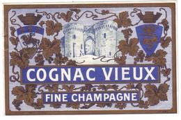 COGNAC VIEUX - FINE CHAMPAGNE -  Pichot   N° 491 - Autres