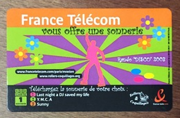 1 SONNERIE COD CARTE PRÉPAYÉE PREPAID PHONECARD TICKET TÉLÉPHONE - FT