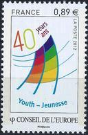 FRANCE - CONSEIL DE L'EUROPE - LOGO 40ème ANNIVERSAIRE DU CENTRE EUROPÉEN - ANNÉE 2012 - NEUFS** 1 VALEUR N° 153 - Service