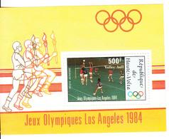 1984 Haute Upper Volta Volleyball Los Angeles Olympics Souvenir Sheet MNH - Nuevos