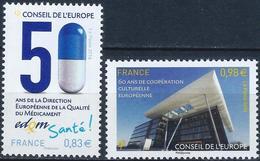 FRANCE - CONSEIL DE L'EUROPE - 50 DIRECTION EUROPÉENNE ET BÂTIMENT - ANNÉE 2014 - NEUFS** 2 VALEURS N° 159/160 - Service
