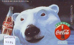 COCA-COLA Telecarte (2276) GERMANY ALLEMAGNE  PHONECARD COKE - Pubblicitari