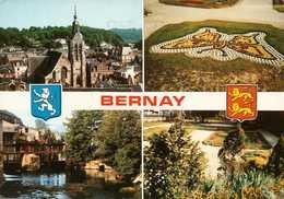 Dep 27 , Cpm BERNAY  , Multivues (1359) - Bernay