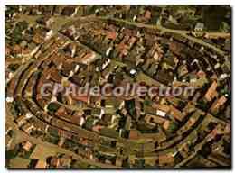 CPSM Vue Aerienne D'Eguisheim Avee Ses Remparts Ville Historique Sur La Route Du Vin D'Alsace - France