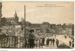 Dpt 54 Baccarat Rue Des Ponts Et Eglise De Deneuvre Guerre En Lorraine 1914-16 - France