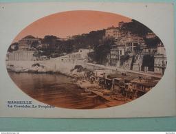 Dpt 13 Marseille La Corniche Le Prophete Image Ovale Rouge - Marseilles