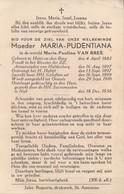 Doodsprentje Moeder Maria Pudentiana (Van Bree) ° 1882 Heist-op-den-Berg + 1936 Niel Klooster Annonciaden Huldenberg - Images Religieuses