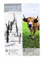 Lot 2 Marque Page /  Maison De L'Aubrac, Aveyron 12, Vache - Marque-Pages