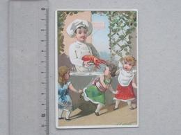 CETTE (34) SETE  CHROMO MAISON DU PEUPLE: ENFANT Cuisinier HOMARD HUMOUR Fillette Peur - ROMANET - Rue Des Casernes - Chromos
