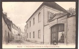 Beaune College De Jeune Filles : Rue Bussiere Et Entrée Du College - Beaune