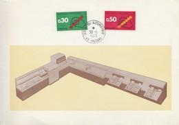 Souvenir Philatélique - 30 Janvier 1973 - Orléans - Centre De Tri Automatique, Lecteur Indexeur D'adresses - Code Postal - Post