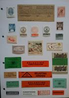 Vignettes 75 Planches A4, Marques D'expédition Surtout Pays-Bas, LR Tous Pays, Douane, Coupons, Pubs, Drapeaux - Andere-Europa