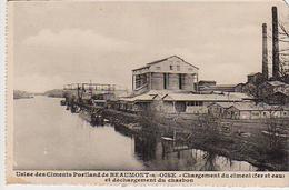 S17-051 Usine Des Ciments Portland De Beaumont Sur Oise - Chargement Du Ciment Et Déchargement Du Charbon - Beaumont Sur Oise