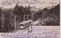 TROIS EPIS DREI AHREN  68 (  LE TRAMWAY )  CARTE ALLEMANDE  1903 - Trois-Epis