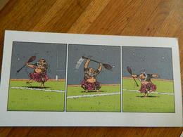 LES VIEUX FOURNEAUX:TRES BEAU PETIT DESSIN 12X 24 DE LA BD LES VIEUX FOURNEAUX - Books, Magazines, Comics