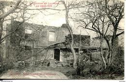 Dpt 54 Baccarat Maison Incendiee Par Les Allemands, Habitant Guerre En Lorraine 1914-18 - France